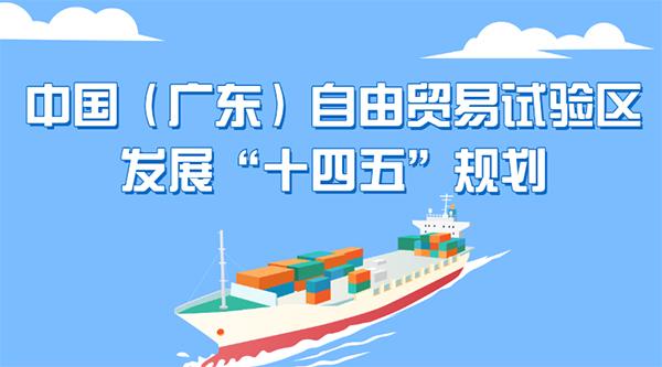 """一图读懂中国(广东)自由贸易试验区发展""""十四五""""规划"""